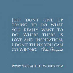 Just Don't Give Up...
