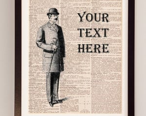 ... Dictionary Paper - Gift for Him - Well Dressed Man - Custom Quote