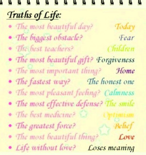 Truths of Life, Most Beautiful Thoughts!!!