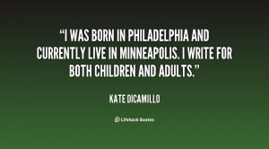 was born in Philadelphia and currently live in Minneapolis. I write ...