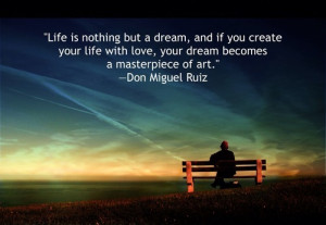 Life is nothing but a dream Love quote pictures