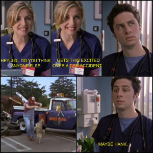 Elliot and JD in scrubs #funny #haha