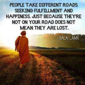 Different paths are not wrong