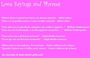 Italian Sayings Translated | Romantic Phrases, Sayings and Love Quotes