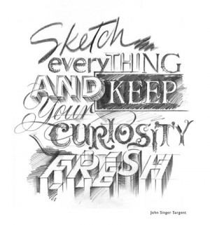 Sketch everything and keep your Curiosity fresh - Curiosity Quote for ...