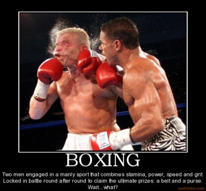 BOXING Two men engaged in a manly sport that combines stamina, power ...