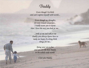 DADDY PERSONALIZED POEM FATHER'S DAY GIFT FROM SON