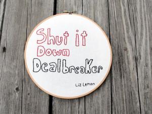 Hello Designs Liz Lemon quote
