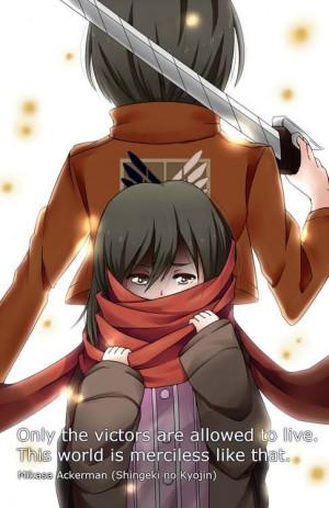 ... Quotes, Mikasa Ackerman, Manga Animal, Attack On Titanic Quotes