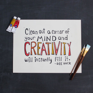 Creativity Quote Block Prints | craftingconnections.net
