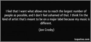 More Jon Crosby Quotes