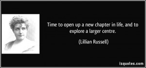 Time to open up a new chapter in life, and to explore a larger centre ...