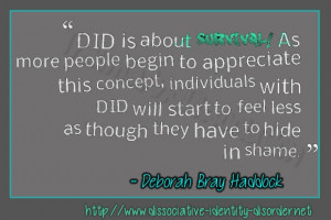 DID is about survival! As more people begin to appreciate this concept ...