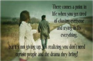 Tired of chasing
