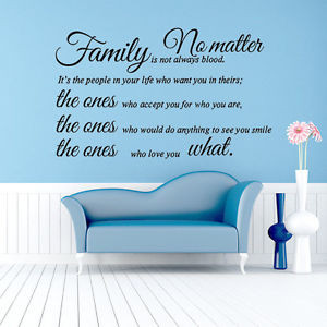 Family-Is-Not-Always-Blood-PVC-Wall-Decal-Quote-Lettering-Art-Home ...