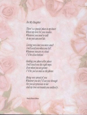 Love Poems for Her For My Daughter Death Of Daughter Poems