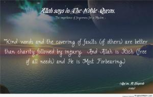 ... Words (Quran 2-263 - Surat al-Baqarah) - Islamic Quotes About Kindness