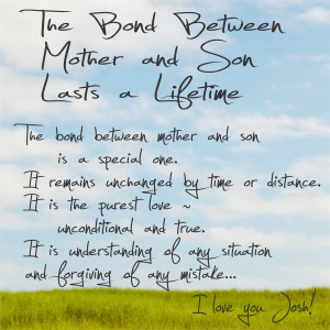 Bond Between Mother And Son. Mother's Day Greeting Card Sentiments ...