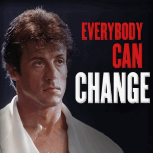 """... can #change, everybody can change."""" #Rocky Balboa #quote #motivation"""