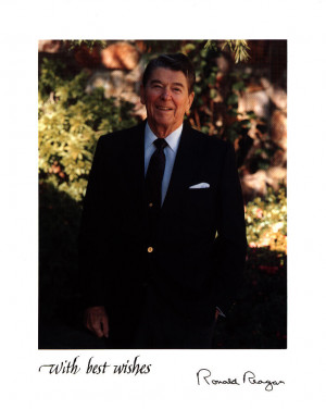 Ronald Reagan Autograph