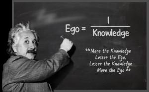 Einstein's quote on ego/knowledge