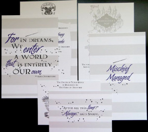 Harry Potter Wedding Invitation Package by AbbieLeeDesigns on Etsy