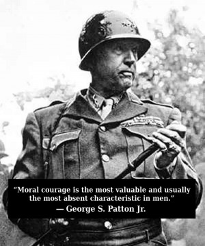 Moral courage is the most valuable and usually the most absent ...