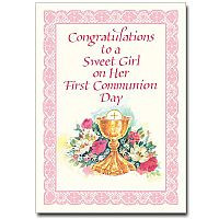 cards first communion cards congratulations to a sweet girl first ...