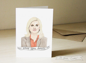 Leslie Knope Illustrated Valentine's Day Card