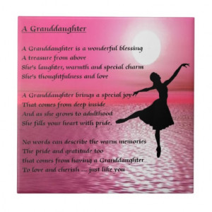 Granddaughter Poem - ballerina Ceramic Tiles