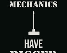 Diesel Mechanics Have Bigger Tools Funny Sign With Velcro Magnet ...