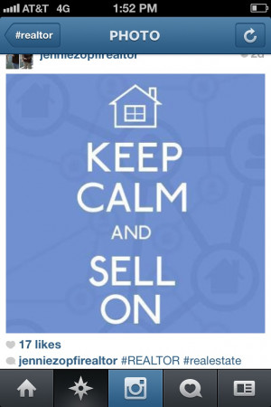 Keep Calm and SELL ON #Realtor
