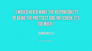 would never want the responsibility of being the prettiest girl on ...