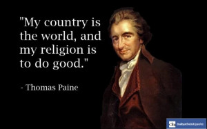 Today's birthday is Thomas Paine's.