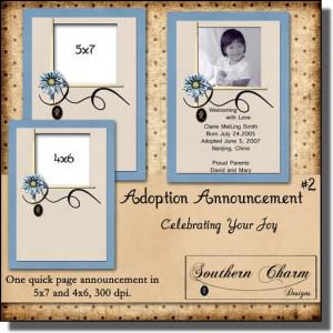 adoption information scrapbook