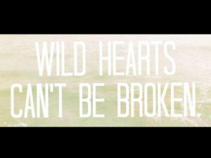 WILD HEARTS CANT BE BROKEN.