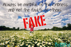 ... Be Mindful Of The Kindness And Not The Faults Of Others. - Buddha