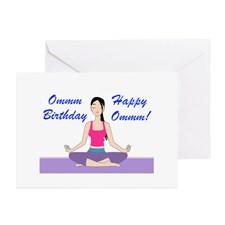 Yoga Birthday Card Greeting Card for