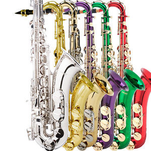 MENDINI-TENOR-SAXOPHONE-SAX-GOLD-SILVER-BLUE-GREEN-PURPLE-RED-39-TUNER