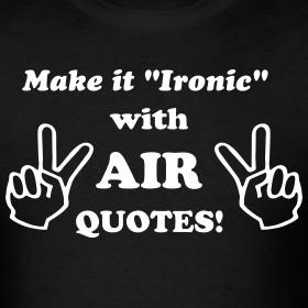 Design ~ Air Quotes Tee