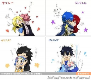 Fairy Tail Couples Nalu, Jerza, GaLe ♥ Gruvia