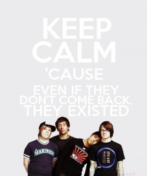 andy hurley, believers never die, fall out boy, joe throman, keep calm ...