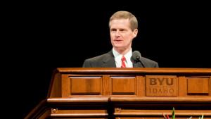 Elder David A. Bednar speaks at the dedication of the BYU–Idaho ...
