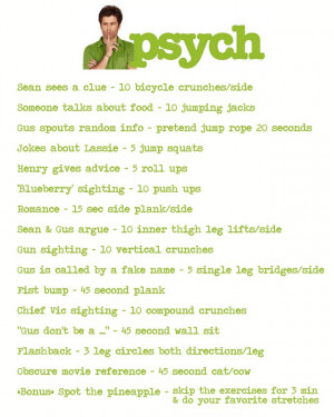 Psych Tv Quotes Psych -- t.v. toning tuesdays.