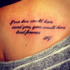 Memorial Quote Tattoos For Grandpa Remembrance tattoo in honor of