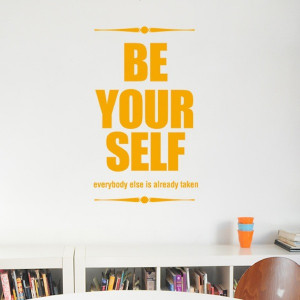 "Be the first to review ""Wall Decal Quote Be Your Self"" Click here ..."