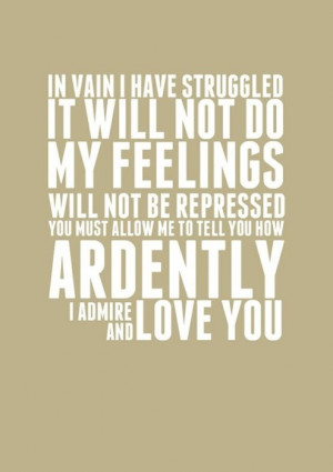 Tags: Pride and Prejudice quote