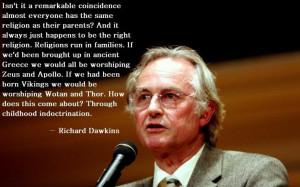 Atheist inspiration.