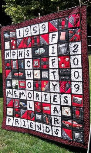 Memory Quilt – High School Memories Quilt