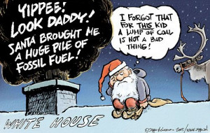 Santa goes to White House with a Lump of Coal...